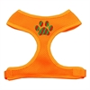 Mirage Pet Products Christmas Paw Screen Print Soft Mesh Harness Orange Medium