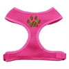 Mirage Pet Products Christmas Paw Screen Print Soft Mesh Harness Pink Extra Large