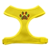 Mirage Pet Products Christmas Paw Screen Print Soft Mesh Harness Yellow Extra Large