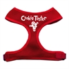 Mirage Pet Products Cookie Taster Screen Print Soft Mesh Harness Red Small