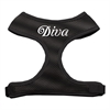 Mirage Pet Products Diva Design Soft Mesh Harnesses Black Extra Large