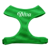 Mirage Pet Products Diva Design Soft Mesh Harnesses Emerald Green Medium