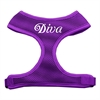 Mirage Pet Products Diva Design Soft Mesh Harnesses Purple Large