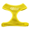 Mirage Pet Products Diva Design Soft Mesh Harnesses Yellow Medium