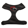 Mirage Pet Products Double Heart Design Soft Mesh Harnesses Black Small