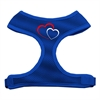Mirage Pet Products Double Heart Design Soft Mesh Harnesses Blue Extra Large