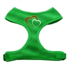 Mirage Pet Products Double Heart Design Soft Mesh Harnesses Emerald Green Large