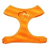 Mirage Pet Products Double Heart Design Soft Mesh Harnesses Orange Medium