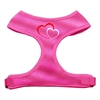 Mirage Pet Products Double Heart Design Soft Mesh Harnesses Pink Extra Large