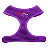 Mirage Pet Products Double Heart Design Soft Mesh Harnesses Purple Large