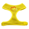 Mirage Pet Products Double Heart Design Soft Mesh Harnesses Yellow Small