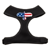 Mirage Pet Products Eagle Flag  Screen Print Soft Mesh Harness Black Small