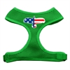 Mirage Pet Products Eagle Flag  Screen Print Soft Mesh Harness Emerald Green Large