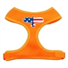 Mirage Pet Products Eagle Flag  Screen Print Soft Mesh Harness Orange Medium