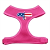 Mirage Pet Products Eagle Flag  Screen Print Soft Mesh Harness Pink Small