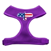 Mirage Pet Products Eagle Flag  Screen Print Soft Mesh Harness Purple Small