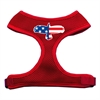 Mirage Pet Products Eagle Flag  Screen Print Soft Mesh Harness Red Small