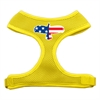 Mirage Pet Products Eagle Flag  Screen Print Soft Mesh Harness Yellow Medium