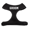 Mirage Pet Products Groom Screen Print Soft Mesh Harness Black Small