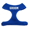 Mirage Pet Products Groom Screen Print Soft Mesh Harness Blue Extra Large