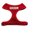 Mirage Pet Products Groom Screen Print Soft Mesh Harness Red Large