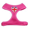 Mirage Pet Products Heart Flag UK Screen Print Soft Mesh Harness Pink Small