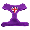 Mirage Pet Products Heart Flag UK Screen Print Soft Mesh Harness Purple Large