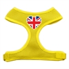 Mirage Pet Products Heart Flag UK Screen Print Soft Mesh Harness Yellow Large