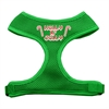 Mirage Pet Products Holly N Jolly Screen Print Soft Mesh Harness  Emerald Green Large