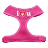 Mirage Pet Products I Love U Soft Mesh Harnesses Pink Extra Large