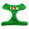 Mirage Pet Products I Love U Soft Mesh Harnesses Emerald Green Small