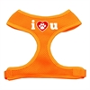 Mirage Pet Products I Love U Soft Mesh Harnesses Orange Medium