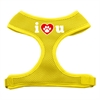 Mirage Pet Products I Love U Soft Mesh Harnesses Yellow Medium