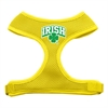 Mirage Pet Products Irish Arch Screen Print Soft Mesh Harness Yellow Large