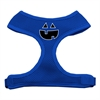 Mirage Pet Products Pumpkin Face Design Soft Mesh Harnesses Blue Extra Large
