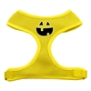 Mirage Pet Products Pumpkin Face Design Soft Mesh Harnesses Yellow Medium
