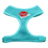 Mirage Pet Products Kiss Me Soft Mesh Harnesses Aqua Medium