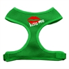 Mirage Pet Products Kiss Me Soft Mesh Harnesses Emerald Green Medium