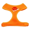 Mirage Pet Products Kiss Me Soft Mesh Harnesses Orange Medium