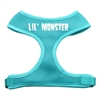 Mirage Pet Products Lil' Monster Design Soft Mesh Harnesses Aqua Large