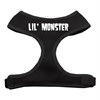 Mirage Pet Products Lil' Monster Design Soft Mesh Harnesses Black Extra Large
