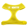 Mirage Pet Products Lil' Monster Design Soft Mesh Harnesses Yellow Large