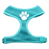 Mirage Pet Products Paw Design Soft Mesh Harnesses Aqua Large