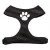 Mirage Pet Products Paw Design Soft Mesh Harnesses Black Small