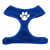 Mirage Pet Products Paw Design Soft Mesh Harnesses Blue Small
