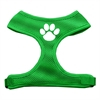 Mirage Pet Products Paw Design Soft Mesh Harnesses Emerald Green Small