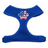 Mirage Pet Products Paw Flag USA Screen Print Soft Mesh Harness Blue Small