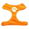 Mirage Pet Products Paw Design Soft Mesh Harnesses Orange Extra Large