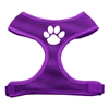 Mirage Pet Products Paw Design Soft Mesh Harnesses Purple Large