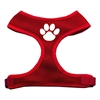 Mirage Pet Products Paw Design Soft Mesh Harnesses Red Small